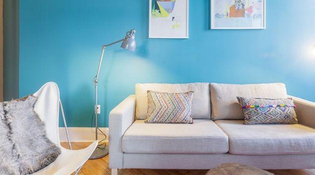 Living area at Habitat 101 Brooklyn Apartments