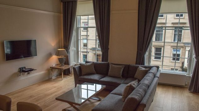 Living area at Blythswood Apartments