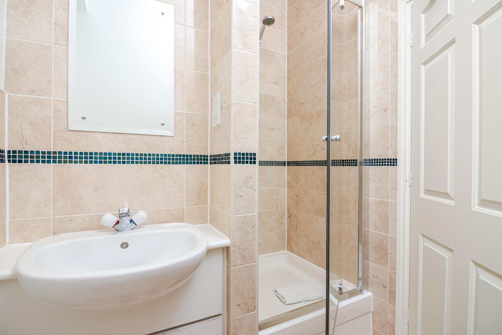 Bathroom at Priory House Apartments, City, London