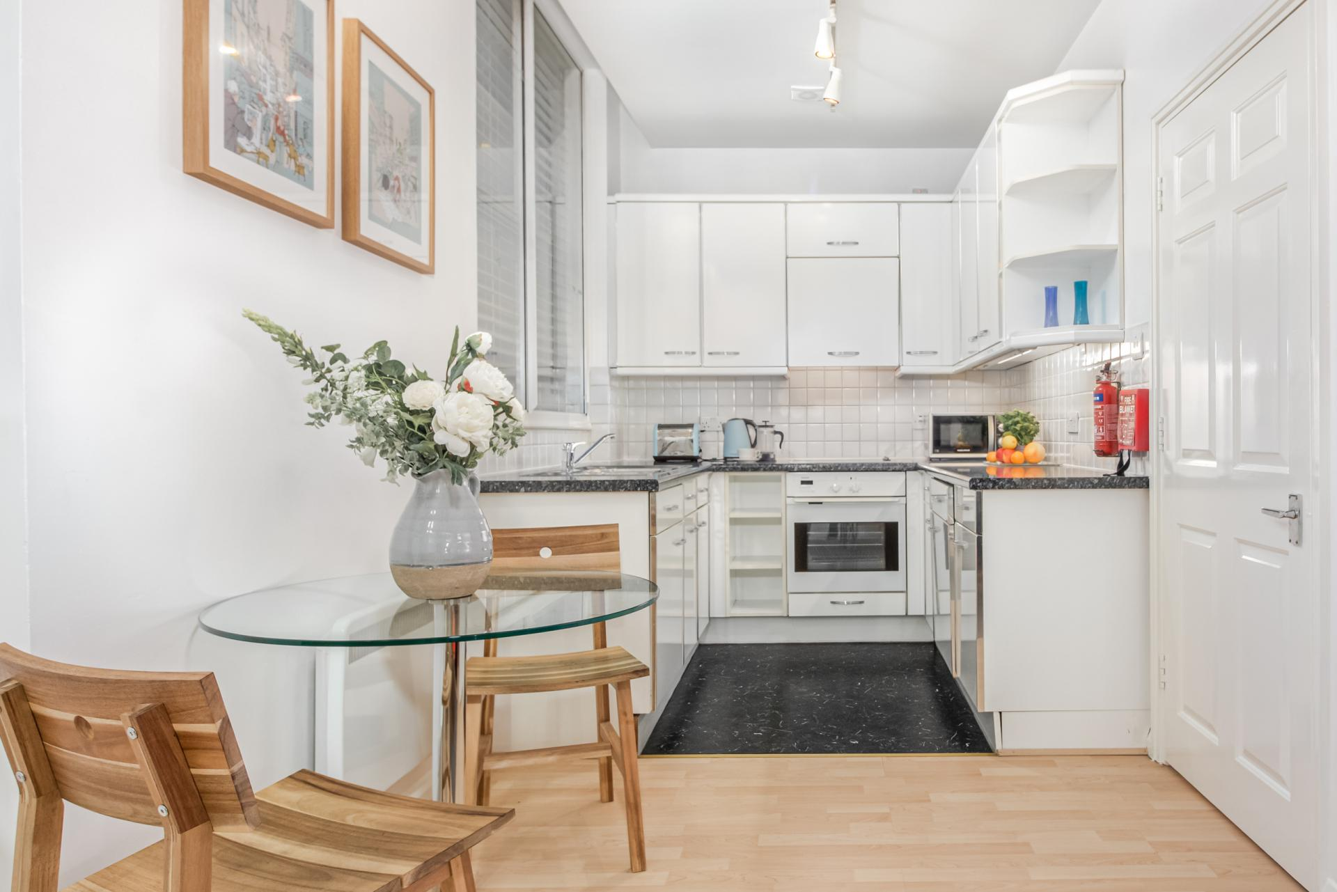 Kitchen at Priory House Apartments, City, London