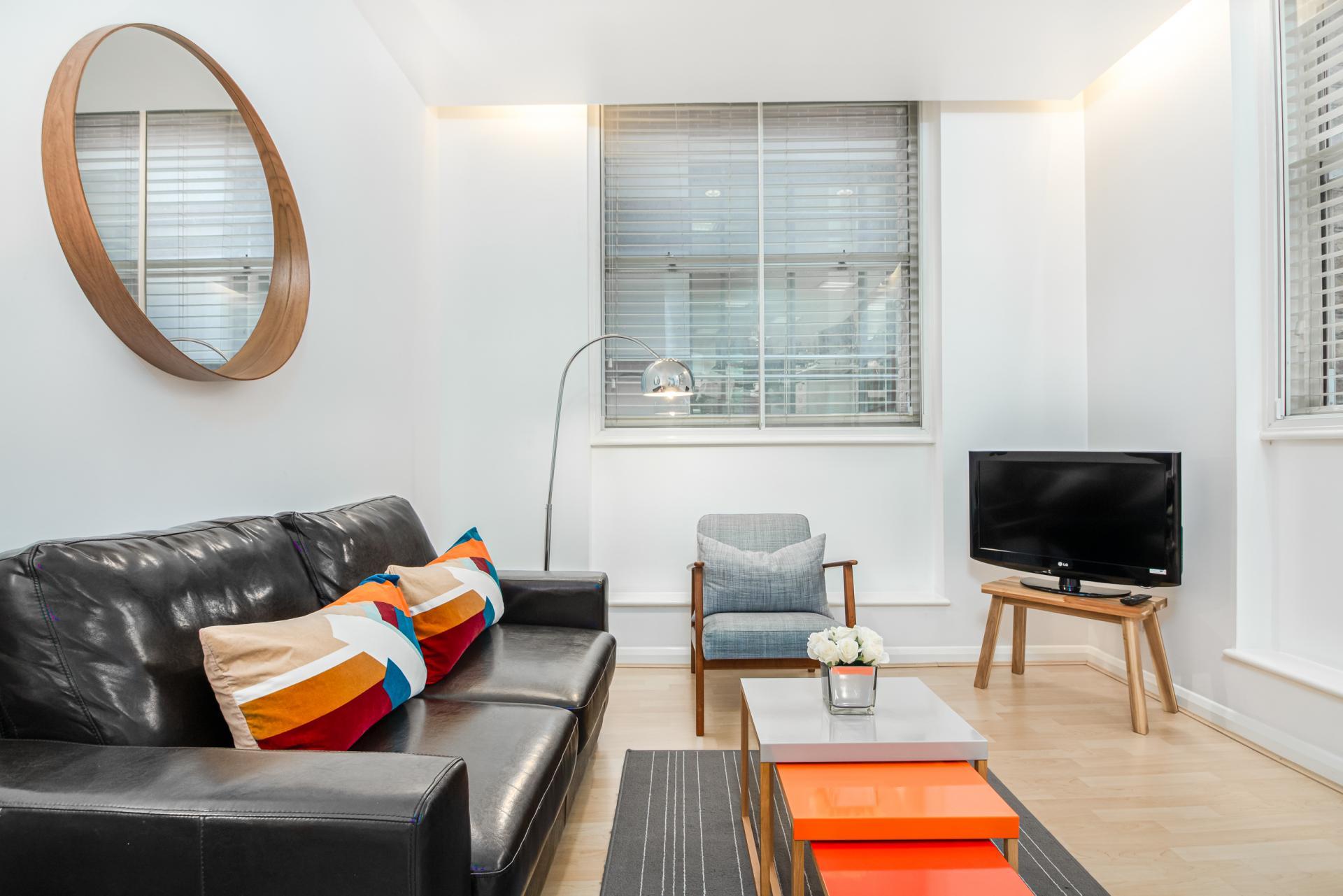 Sofa at Priory House Apartments, City, London