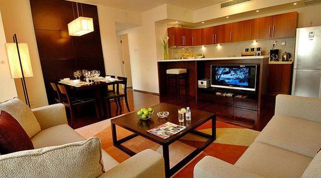 Living area in the Oak Chateau Beijing
