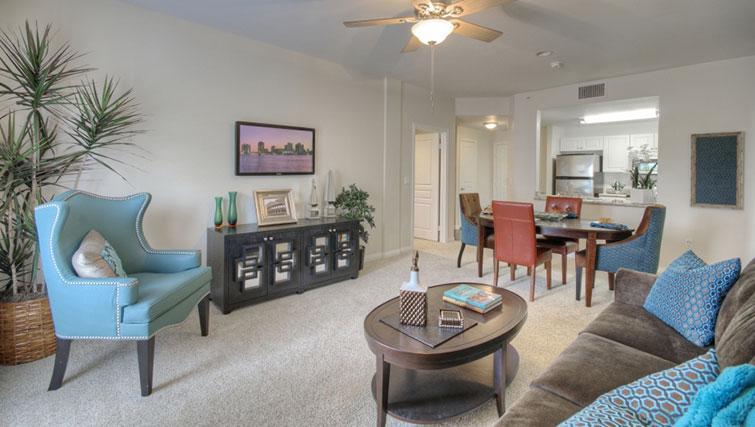 Living room at Cedar Walk Apartments