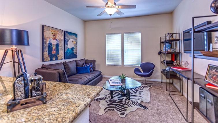 Living area at Cedar Walk Apartments
