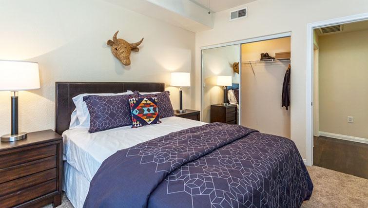Double bedroom at Cedar Walk Apartments