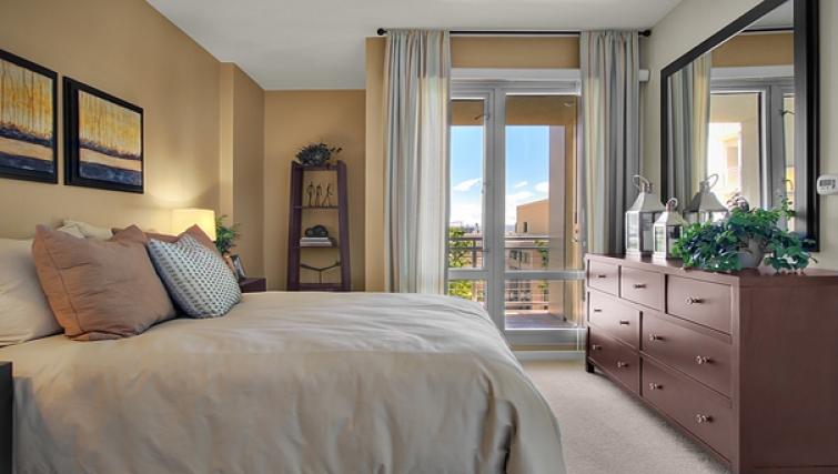 Bedroom at Strata San Francisco Apartments