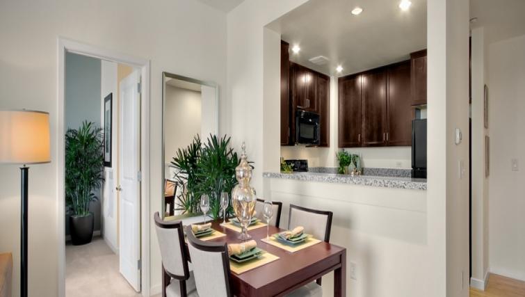Dining area at Strata San Francisco Apartments