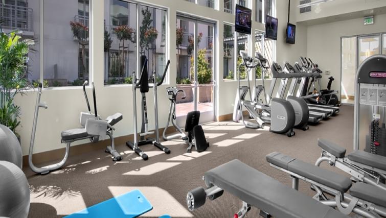 Gym at Strata San Francisco Apartments