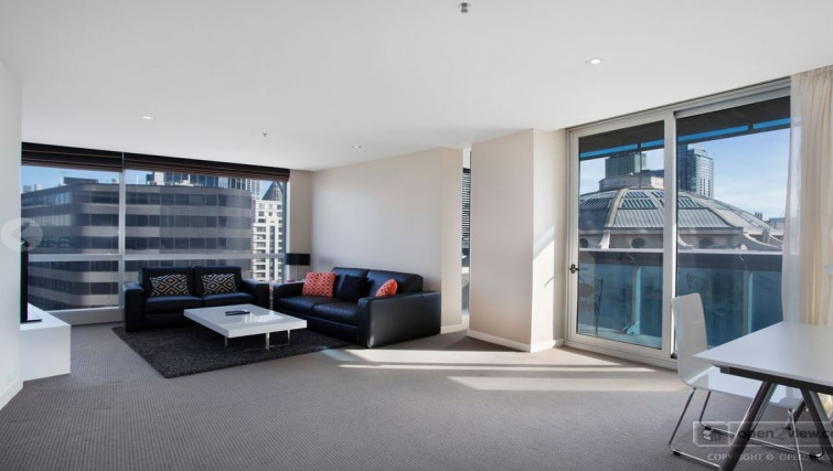 Living room at Jane Bell Lane Apartments
