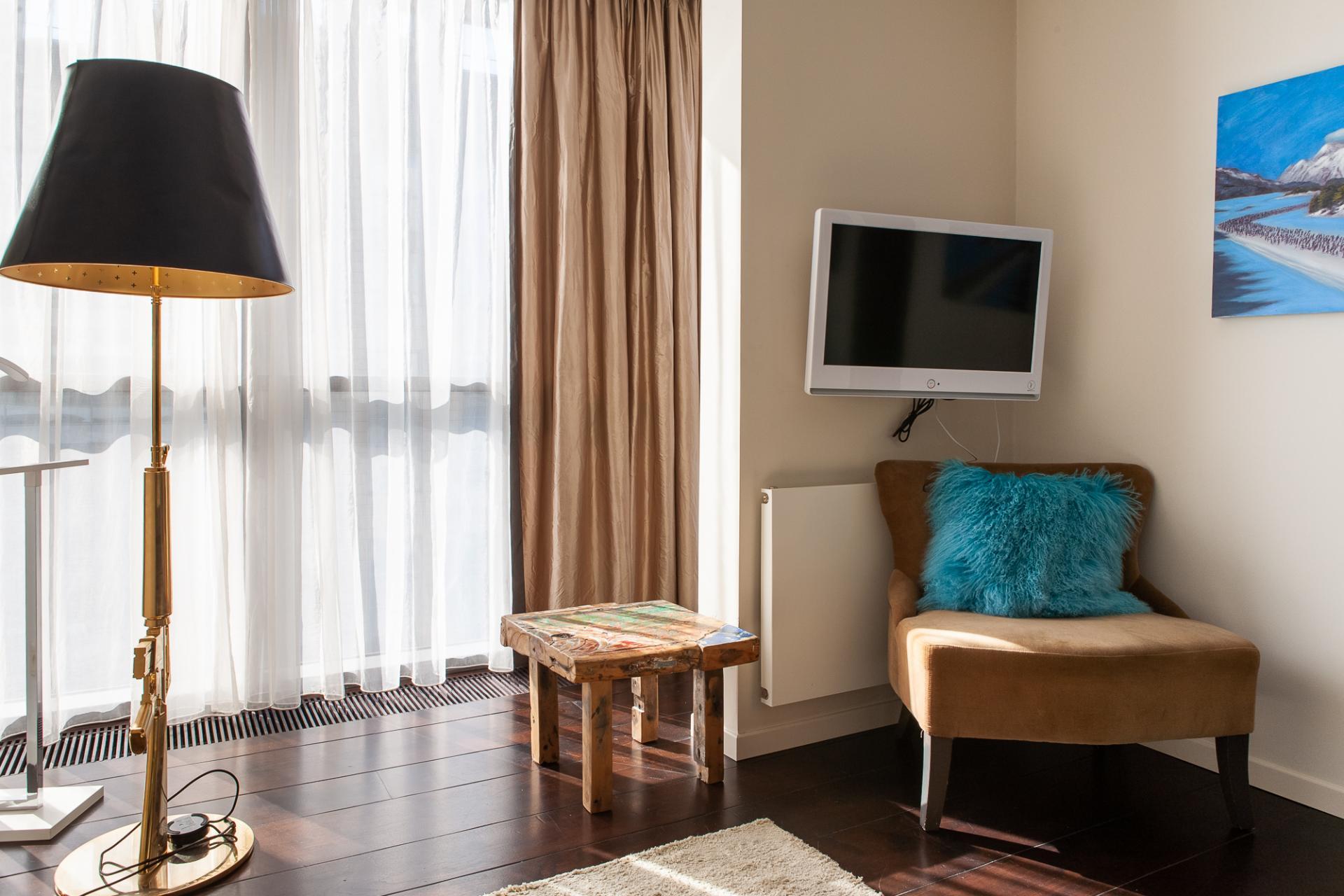 Living area at Grzybowska 61 Apartments, Centre, Warsaw