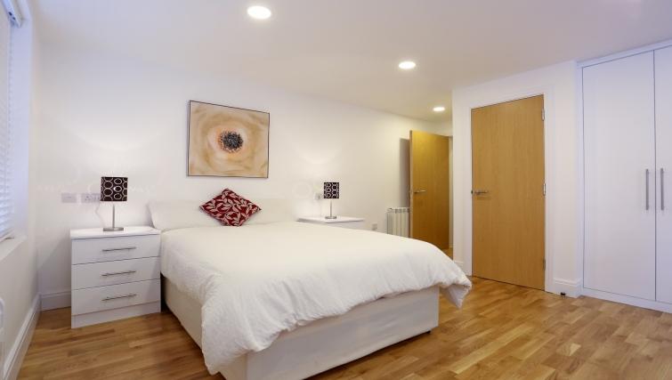 Bedroom at Fleet Street Studio Apartments
