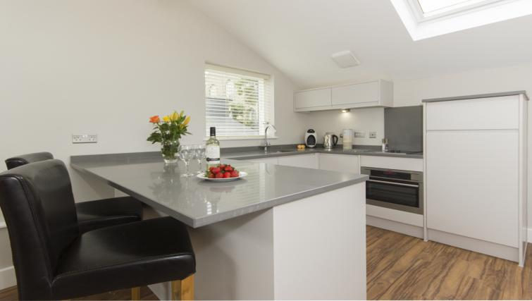 Open-plan kitchen at The Dales Apartments
