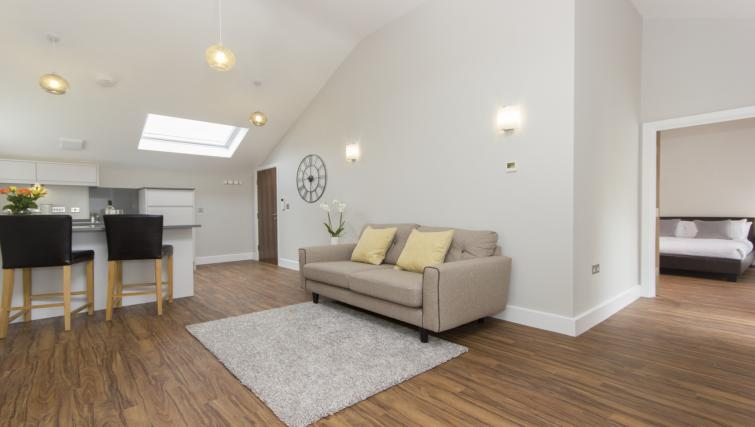 Modern living area at The Dales Apartments