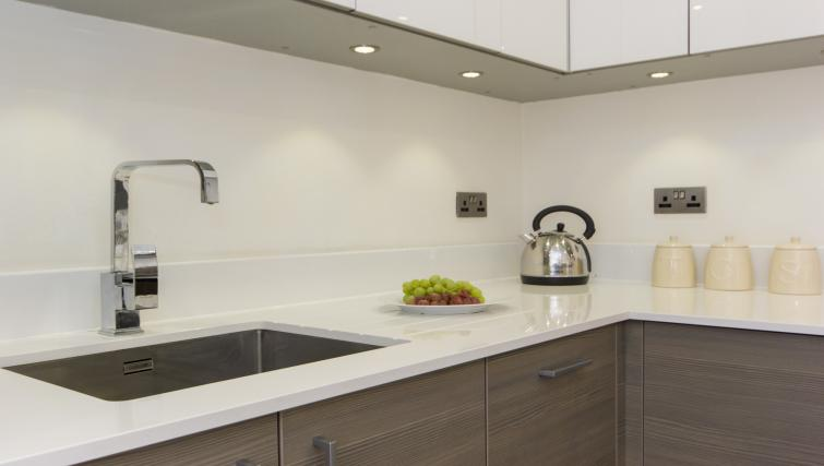 Equipped kitchen at Mill Park Apartments