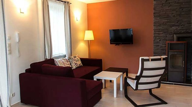 Living area at Villa Meehr Apartments
