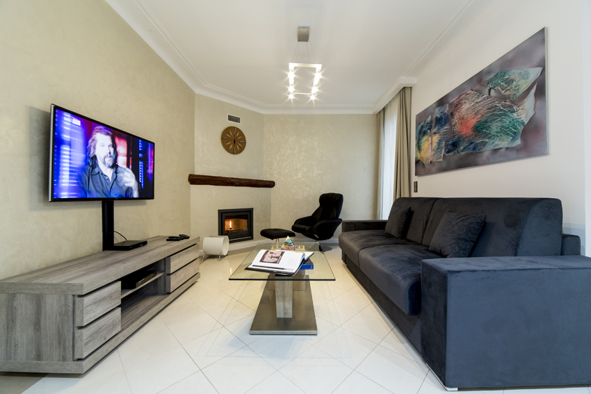 Living room at Villa Cortina Apartments