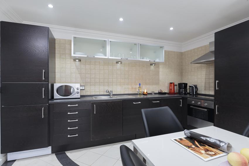 Spacious kitchen at Villa Cortina Apartments