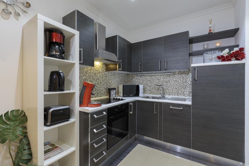 Kitchen facilities at Villa Cortina Apartments