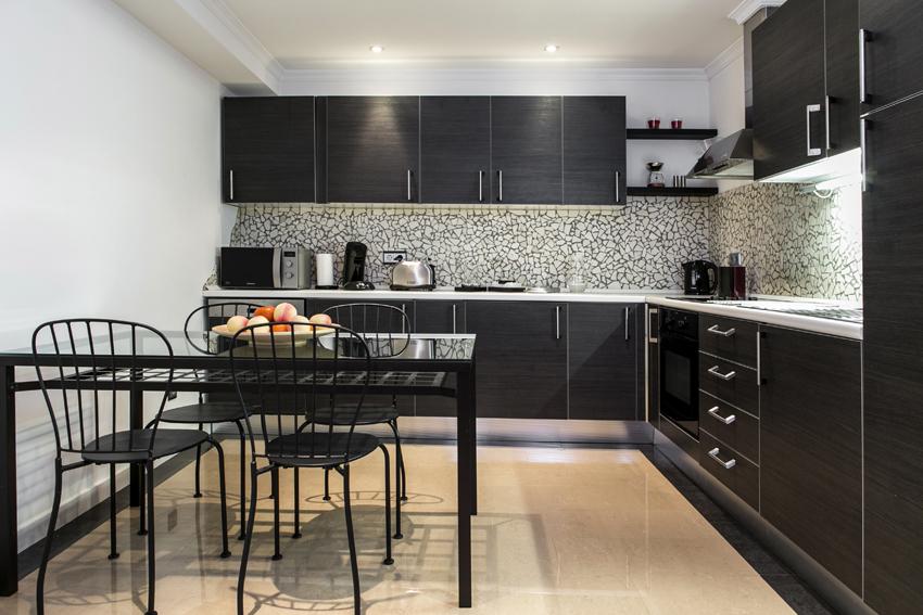 Kitchen at Villa Cortina Apartments