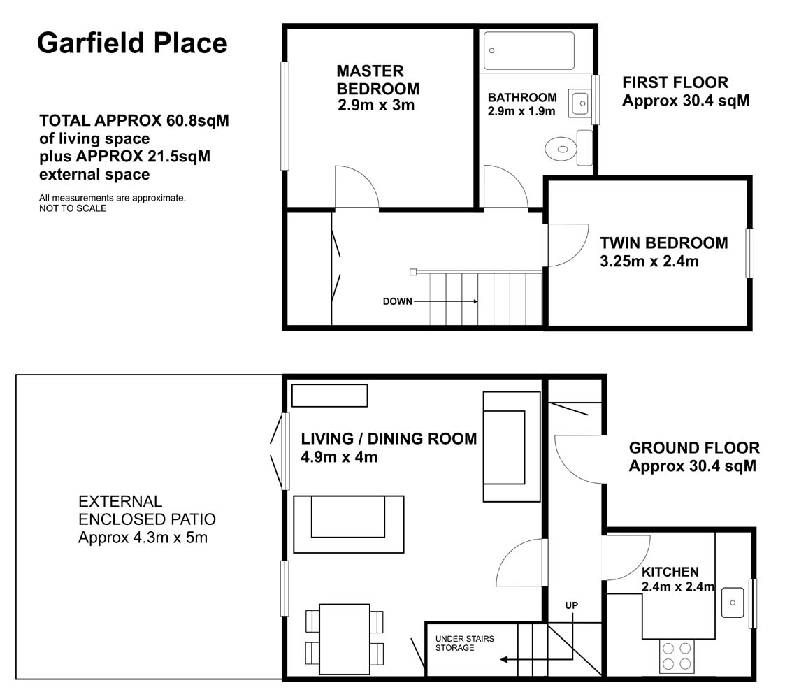 Floor plan at Garfield Place Apartments