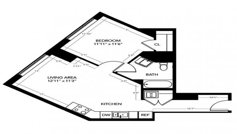 Floor plan at Radian Apartments