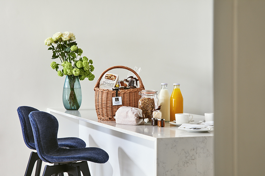 Breakfast bar at Brick Street Apartments