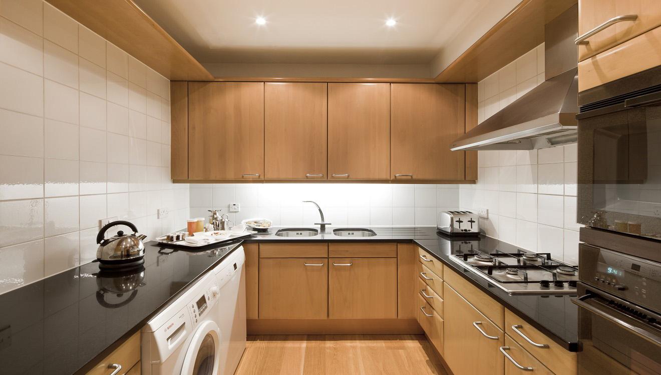 Kitchen area at Hertford Street Apartments