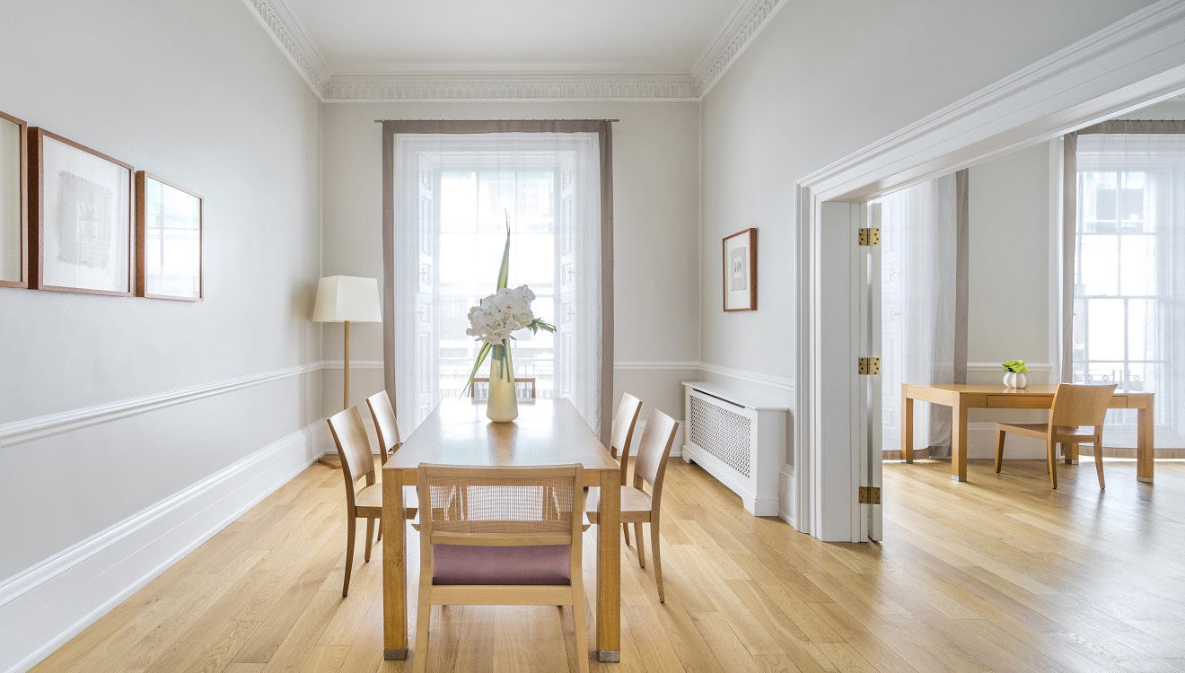 Dining table at Hertford Street Apartments