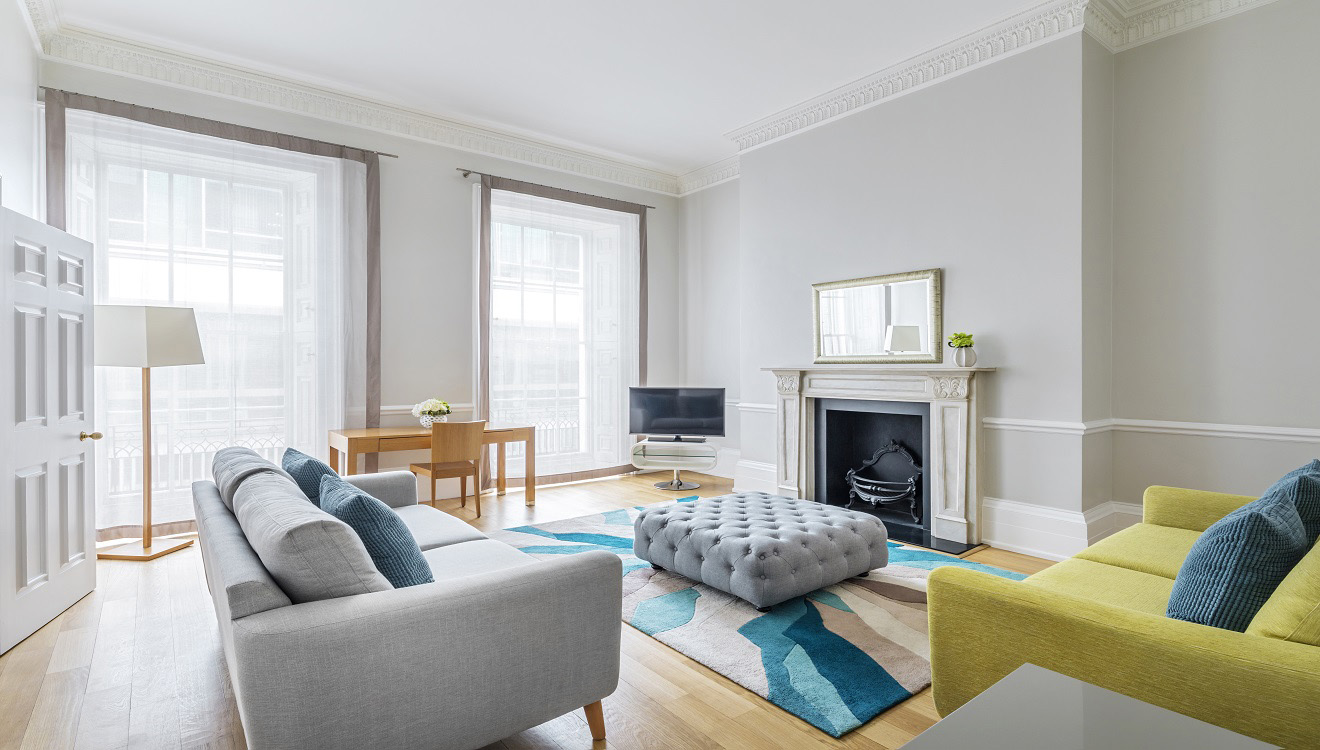 Living room at Hertford Street Apartments