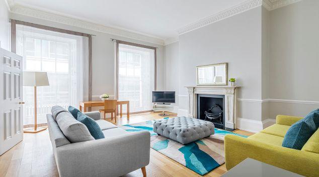 Living room at Hertford Street Apartments