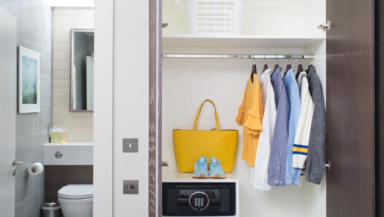 Wardrobe at Staybridge Suites London Vauxhall