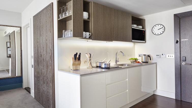 Kitchen at Staybridge Suites London Vauxhall