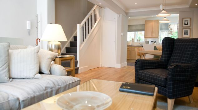 Living area at The City Cottage at Cheval Knightsbridge, Knightsbridge, London