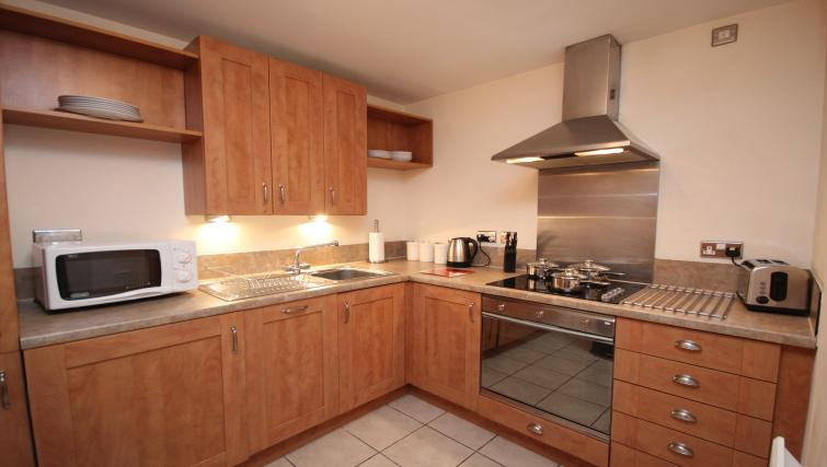 Equipped kitchen at Baltic Quays Apartments