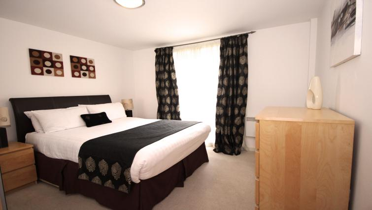 Master bedroom at Baltic Quays Apartments