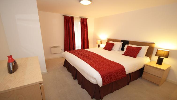 Bedroom at Baltic Quays Apartments