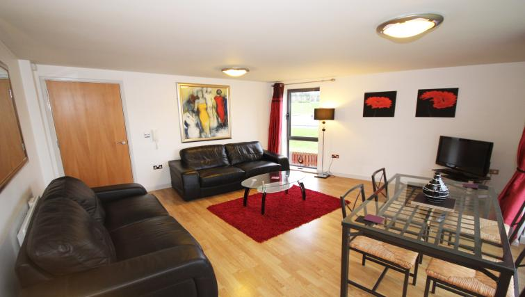 Living space at Baltic Quays Apartments