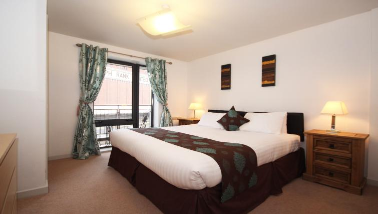 Double bed at Baltic Quays Apartments