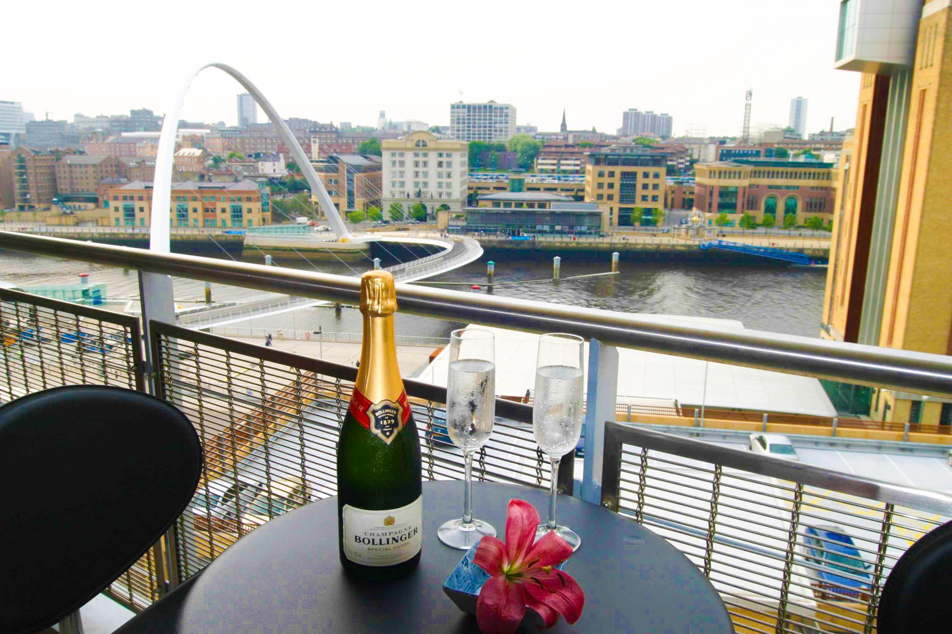Balcony at  Baltic Quays Apartments