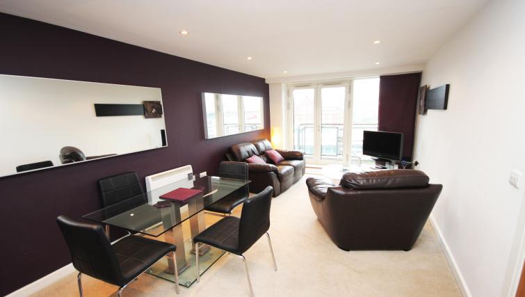 Living area at City Quadrant Apartments