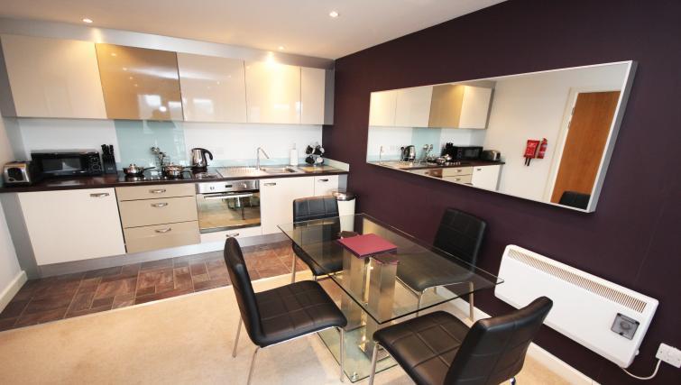 Dining area at City Quadrant Apartments