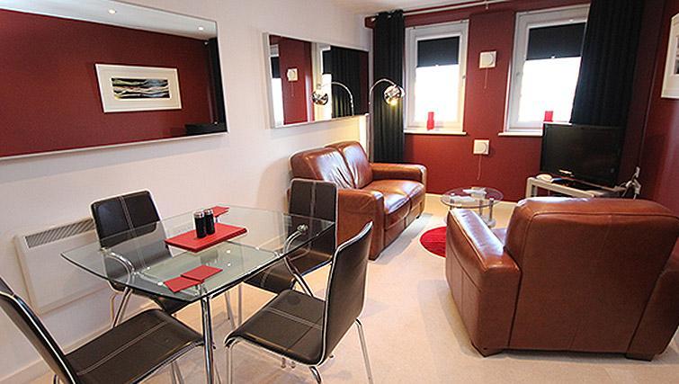 Living room at City Quadrant Apartments