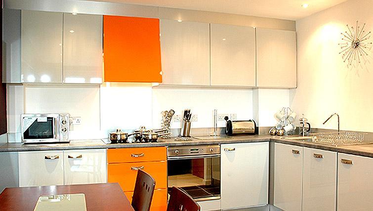 Bright kitchen at City Quadrant Apartments