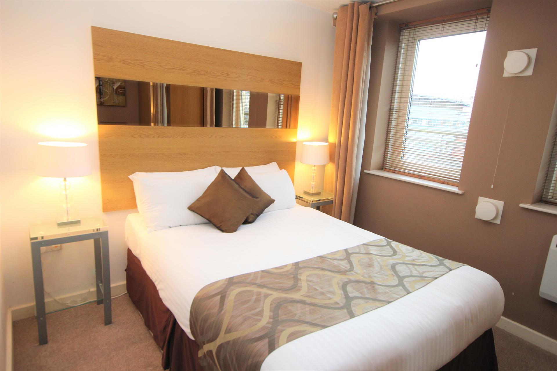Bed at City Quadrant Apartments