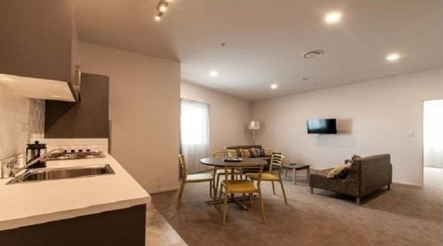Kitchen/living area at Quest on Thorndon