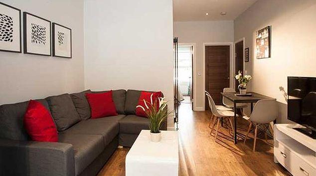 Living area at Brook Green Apartments