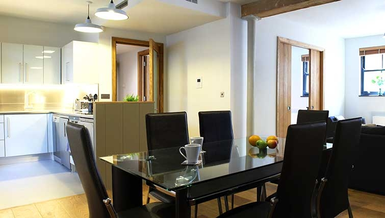 Dining area at Charlotte Apartments