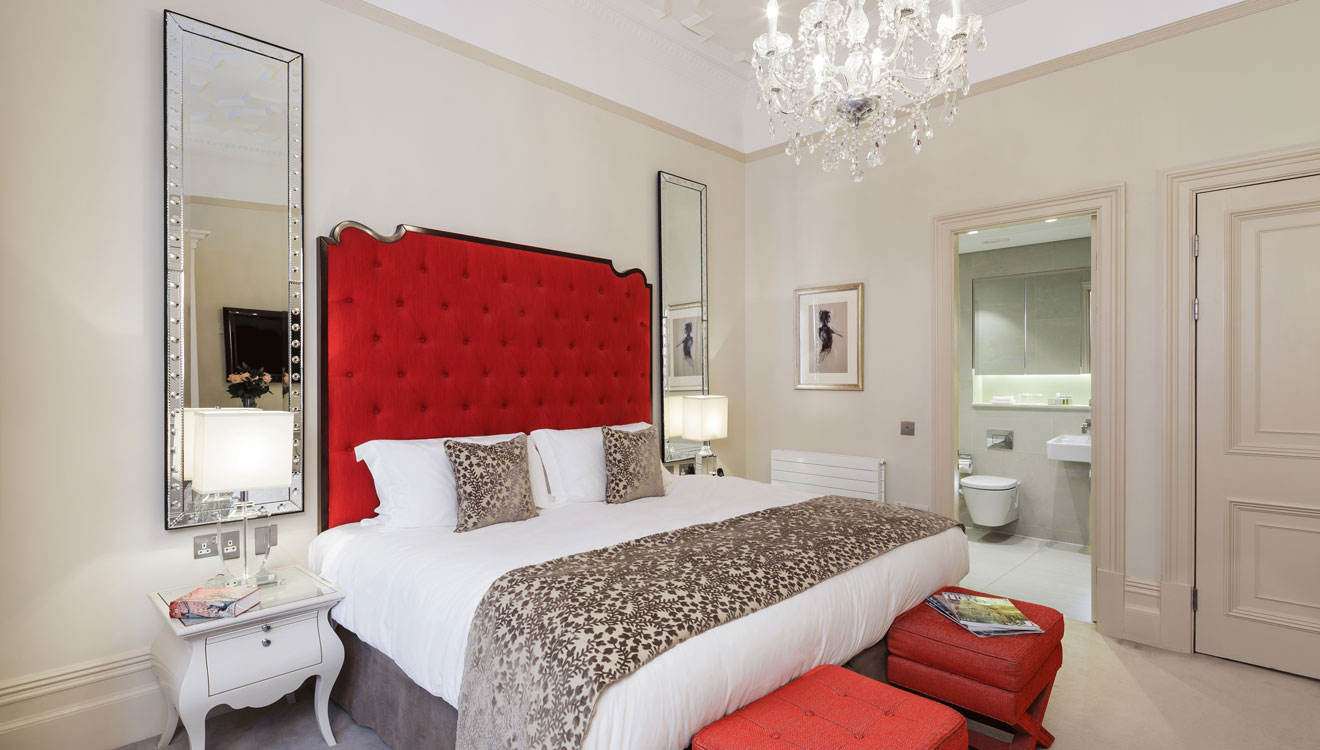 Master bedroom at The Apartments by The Sloane Club