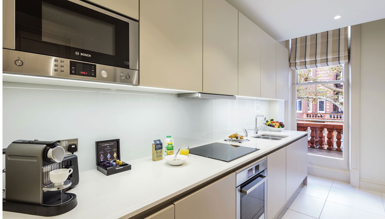 Modern kitchen at The Apartments by The Sloane Club