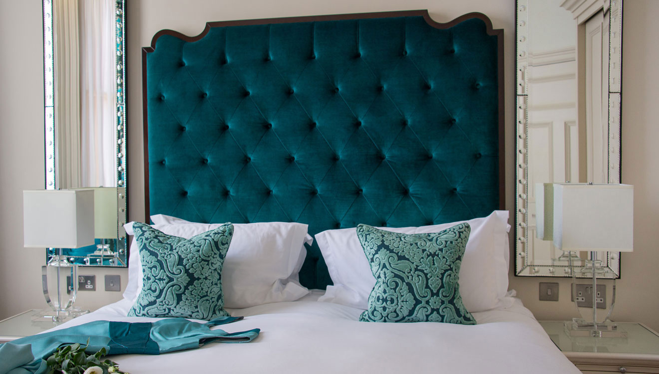 Stylish bedroom at The Apartments by The Sloane Club